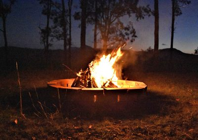 Camp fire evenings under the stars