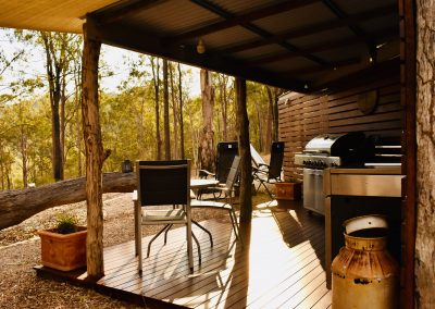 Ironbark glamping kitchen